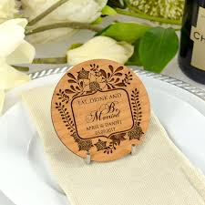coaster favors wedding engraved wooden coaster personalized favors