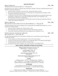 Physician Resume Examples by Resume Template Database