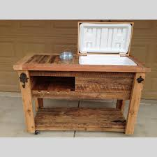 coffee table with cooler barn wood cooler table outdoor bar cart serving station