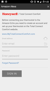 Total Connect Comfort Honeywell Setting Up Honeywell Smart Thermostat On Echo Amazon Echo Register