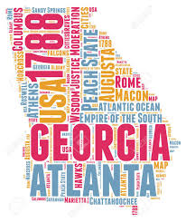 Word Cloud Map Of Washington by Map Georgia Usa Cities