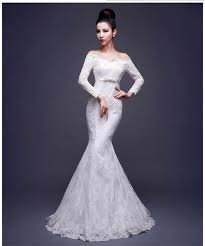 wedding dress malaysia the shoulder sheath lace mermaid wedding dress gown