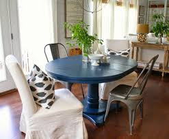 navy blue dining table house seven design build