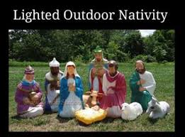 Nativity Sets Outdoor Plastic Lighted Outdoor Nativity Sets Yonderstar Com