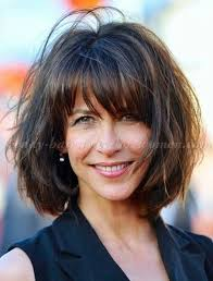 hairdos with bangs women over 50 short hairstyles over 50 sophie marceau bob hairstyle with bangs