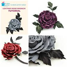 leather rose tutorial leather rose pattern leather flower