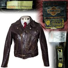 leather cycle jacket harley davidson vintage haberdashers blog