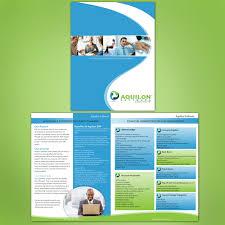 brochure design software print design contests aquilon software brochure design no 5