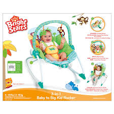 Infant Toddler Rocking Chair Bright Starts 3 In 1 Baby To Big Kid Rocker Baby Bunting
