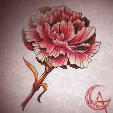 hand picked carnation by artclarissaanna on deviantart