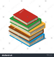 stack new 3d colorful books tutorials stock vector 552758464
