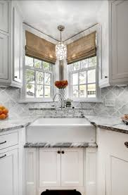 kitchen romanian window blind ideas with catchy backsplash tile