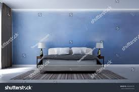 Minimal Bedroom New Scene 3d Rendering Interior Design Stock Illustration