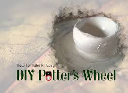 make a quick and simple pottery wheel 6 steps with pictures