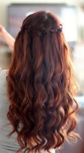 Frisuren Lange Haare Wasserfall by Prom Frisuren Für Lange Haare Hälfte Bis Halb Nach Unten