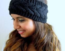 winter headbands knit braid headband etsy