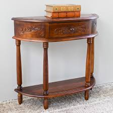 half moon console table with drawer half moon console hall table wood home furniture decoration with
