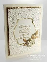 handmade christmas cards stin up gold vanilla handmade christmas card
