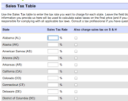 california state tax table 2016 ebay sellers guide to sales tax