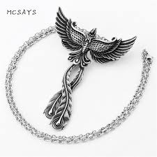 aliexpress pendant necklace images Mcsays stainless steel jewelry charm phoenix pendant link chain jpg