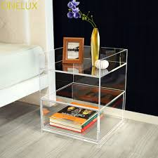 clear plastic bedside table clear acrylic bedside drawer table lucite nightstand perspex sofa