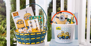 painted easter buckets build your own minions easter basket party city