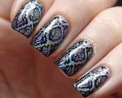 copycat claws holographic snakeskin nail stamping
