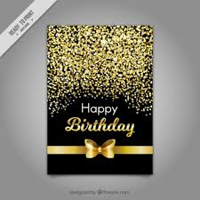 birthday card with golden bow free vectors ui download