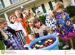 halloween bobbing for apple game stock photo image 44942409