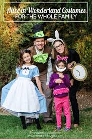 halloween costumes for family alice in wonderland costumes for the whole family