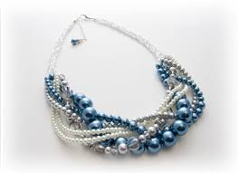 blue pearl necklace images Blue pearl jewelry dark navy blue pearl necklace midnight blue jpg