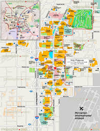 Las Vegas Hotel Strip Map by Las Vegas Attraction Map Virginia Map
