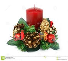 candle ornament on white background stock photo image