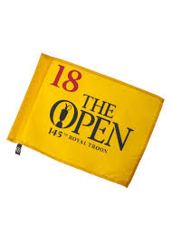 Pin Flags The Open Royal Troon Replica Pin Flag In Yellow The Open Shop