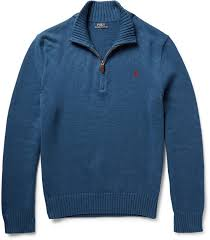 polo ralph lauren half zip knitted cotton sweater where to buy