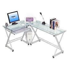 Z Line Belaire Glass L Shaped Computer Desk Z Line Belaire Glass L Shaped Computer Desk Kitchen