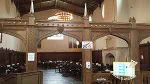 file inside a dining hall in whitman college at princeton