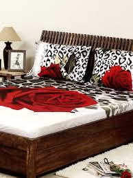 top bed sheets bedroom dark brown wooden framed bed in sweet floral bed sheets