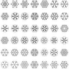 different snowflake patterns design elements vector free vector in