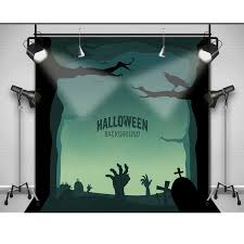 online shop allenjoy photographic backdrop zombie cemetery crow