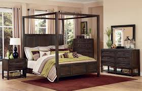 Wood Canopy Bed Bedroom Brown Wooden Canopy Bed Designed With Rectangular