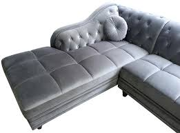 canap chesterfield d angle canape angle velours canapac dangle gauche empire noir velours style