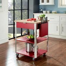 crosley furniture kitchen cart culinary wood top prep kitchen cart metal crosley target