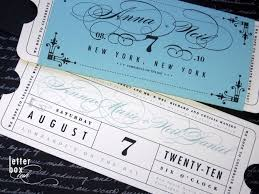 ticket wedding invitations ticket wedding invitations the wedding specialiststhe wedding