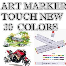 30color touchnew drawing marker pen design artist dual head copic