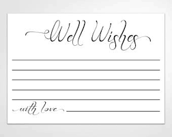 wedding wishes note well wishes notes etsy