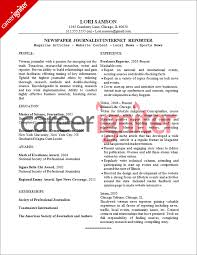 Sports Resume Examples by Journalist Job Journalism Resumes Samples Training Consultant