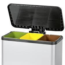 hailo poubelle cuisine poubelle tri selectif 3x11l trento öko trio poubelle de tri hailo