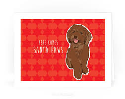 cat christmas card here comes santa claws funny kitty cat