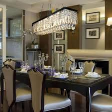 Linear Chandelier Dining Room Linear Chandelier Dining Room Home Design Photos